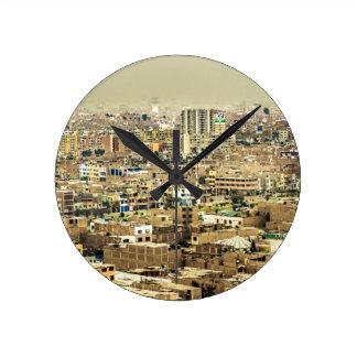 Relógio Redondo Ideia aérea de subúrbios de Lima, Peru