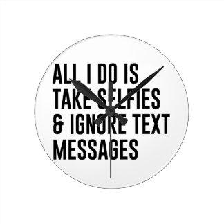 Relógio Redondo Ignore textos