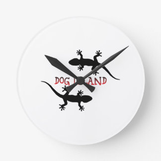 Relógio Redondo Ilha Florida. do cão