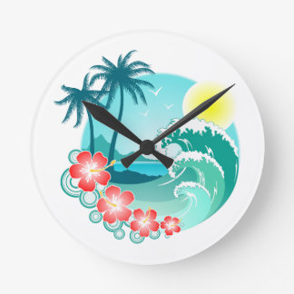 Relógio Redondo Ilha havaiana 3