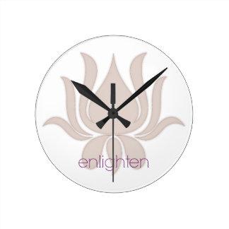 Relógio Redondo Ilumine Lotus