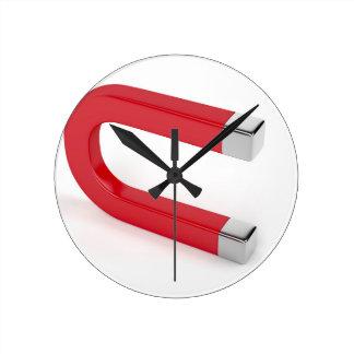 Relógio Redondo Ímã em ferradura
