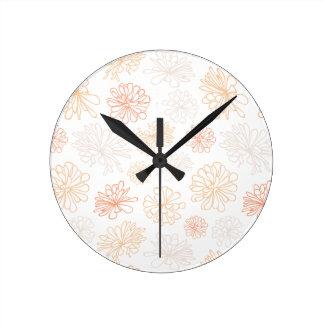 Relógio Redondo Impressão botânico do jardim floral do Succulent