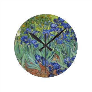 Relógio Redondo Íris azuis
