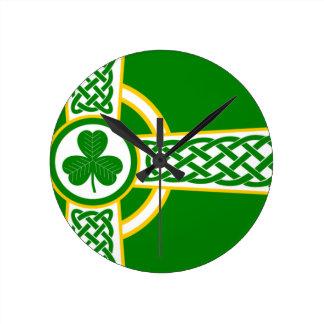 Relógio Redondo Irish_Celtic_Cross
