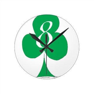 Relógio Redondo Irlandês afortunado 8 dos clubes, fernandes tony