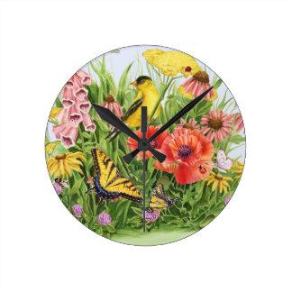 Relógio Redondo Jardim do Goldfinch