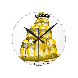 Relógio Redondo jello da abelha do mel dos fernandes tony