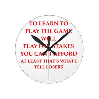 Relógio Redondo jogador do jogo