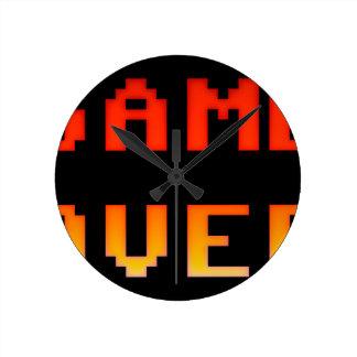 Relógio Redondo Jogo sobre 8bit retro