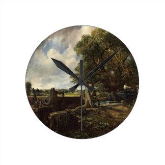 Relógio Redondo John Constable - o fechamento - paisagem do campo