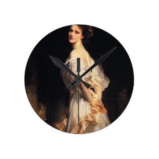 Relógio Redondo John Singer Sargent - Nancy Astor