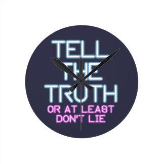 Relógio Redondo Jordão Peterson: Diga a verdade…