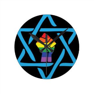 Relógio Redondo Judaico preto alegre