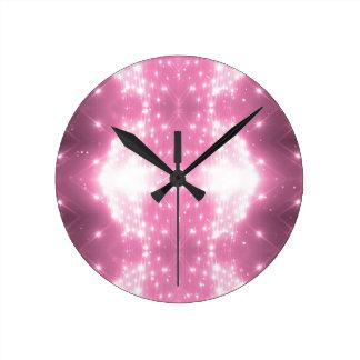Relógio Redondo Kaleidasope Sparkling cor-de-rosa