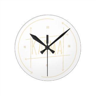 Relógio Redondo Karmas (para o fundo escuro)