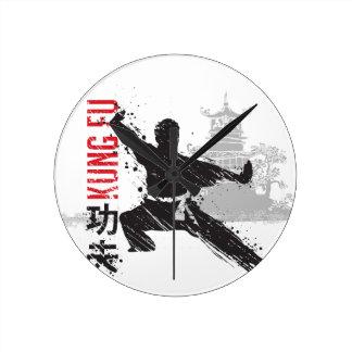 Relógio Redondo Kung Fu
