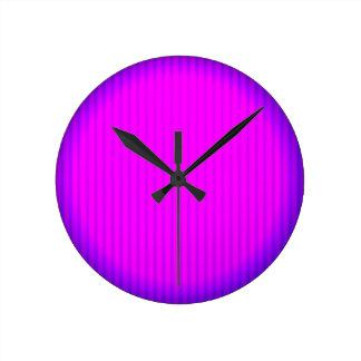 Relógio Redondo Lâmpada fúcsia do diodo emissor de luz