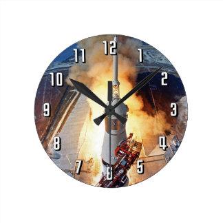 Relógio Redondo Lançamento de Rocket da aterragem de lua da NASA