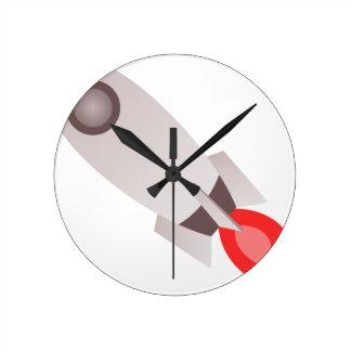 Relógio Redondo Lançamento do navio de Rocket