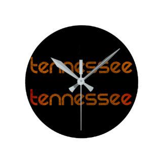 Relógio Redondo Laranja de Tennessee