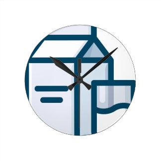 Relógio Redondo Leite