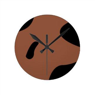 Relógio Redondo Leite dos elementos do design