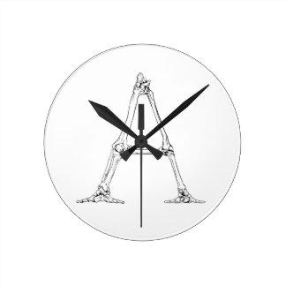 Relógio Redondo Letra do osso - A