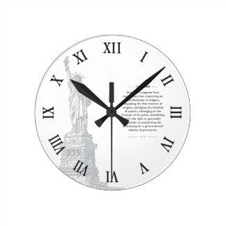 Relógio Redondo Liberdade de expressão da alteração dos EUA øs da