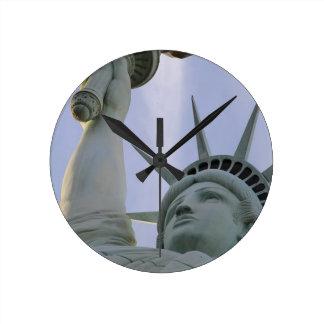 Relógio Redondo Liberdade dos EUA da liberdade da estátua da