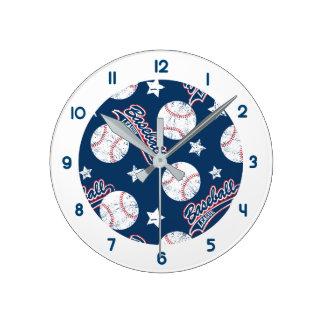 Relógio Redondo Liga de basebol