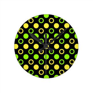 Relógio Redondo Limão e anéis e bolinhas do limão por STaylor