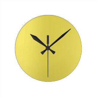 Relógio Redondo Limão mínimo - mostarda amarela Ombre mínimo