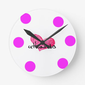 Relógio Redondo Língua do Xhosa do design do amor