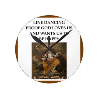 Relógio Redondo linha dança