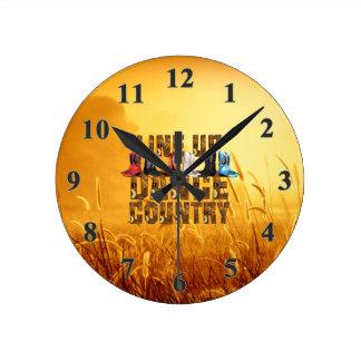 Relógio Redondo Linha dança do país do T