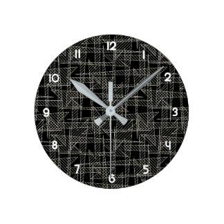 Relógio Redondo Linhas cruzadas