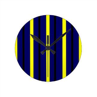 Relógio Redondo Listra azul escuro de Derby