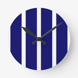 Relógio Redondo Listras azuis escuro corajosas