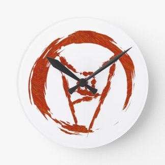 Relógio Redondo Logotipo do universo do metal pesado