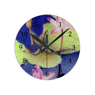 Relógio Redondo Lotus Waterlily