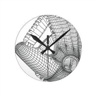 Relógio Redondo luva de basebol