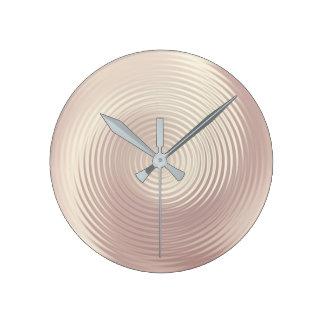 Relógio Redondo Luxo cor-de-rosa perolado do ouro dos círculos