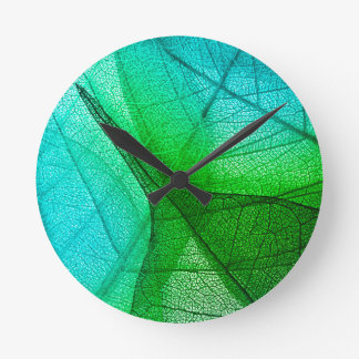 Relógio Redondo Luz solar que filtra através das folhas