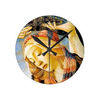 Relógio Redondo Madonna de Magnificat - Botticelli - presente
