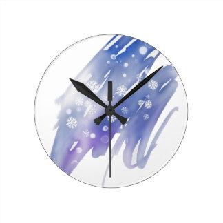 Relógio Redondo Mágica do inverno