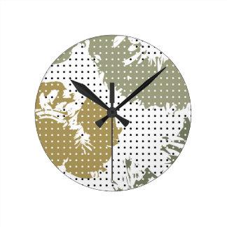 Relógio Redondo Manchado