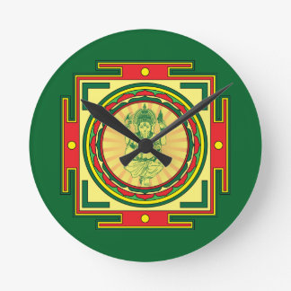 Relógio Redondo Mandala de Ganesha