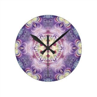 Relógio Redondo Mandalas do coração da liberdade 18 presentes