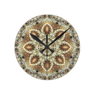 Relógio Redondo Mandalas do coração da liberdade 27 presentes